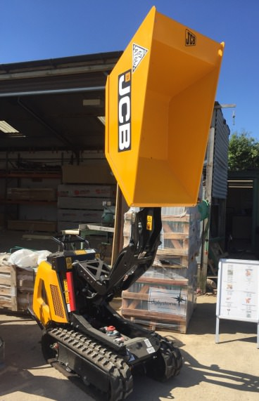 JCB HTD5 tracked dumper plant hire Royston uk