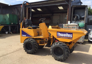 Thwaites ride-on dumper 1 ton plant hire